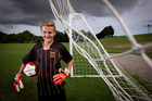 Young soccer player Connor Frith from Massey High School, Auckland. Photo / Dean Purcell
