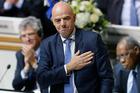 Newly elected FIFA President Gianni Infantino of Switzerland. Photo / AP