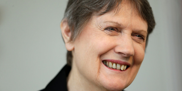 Shortland St in Auckland'S CBD was perhaps an unlikely place for a small celebration to mark a momentous political decision by Helen Clark. Photo / AP