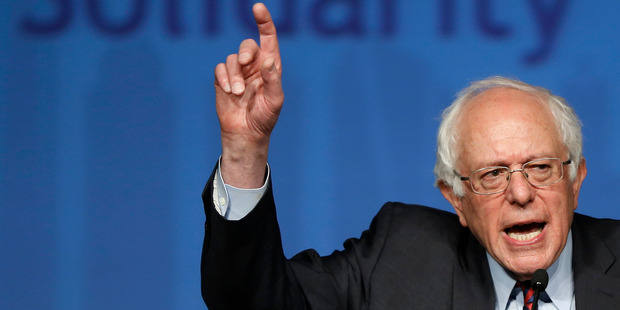 Democratic presidential candidate Senator Bernie Sanders says a negative campaign is not his style. Photo / AP