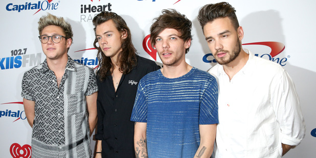 Niall Horan, Harry Styles, Louis Tomlinson and Liam Payne of One Direction. Photo / AP.