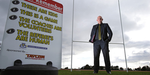 Chairman of the Bay of Plenty Rugby Union judical committee John McKay, talking about supporter's behaviour on the sidelines at rugby games in July last year. Photo/file