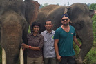 Leonardo Dicaprio in Indonesia. The UN climate envoy has spoken out against destruction of rainforests. Photo / Instagram