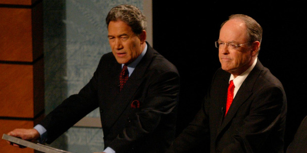 Winston Peters and Don Brash are on the same side in the iwi rights debate. Photo / Richard Robinson