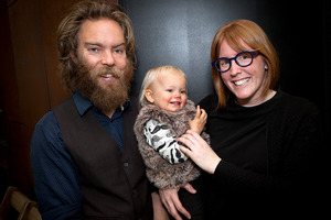 Blur Eyecare's Stuart Laing and Haidee Mannix with their daughter Mika Laing. Photo/Andrew Warner.