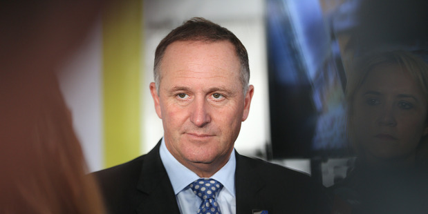 Loading Prime Minister John Key, 18 February 2016 New Zealand Herald Photograph by Doug Sherring