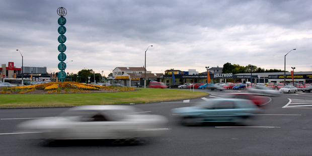 The Panmure roundabout is a safety blackspot. Photo / Kenny Rodger