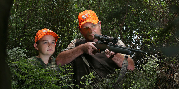 Adam and Alex Finlayson (12) are heading out hunting for the roar. Photo/John Borren