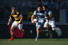 Auckland's Ben Lam makes a break in the ITM Cup. Photo / Nick Reed.