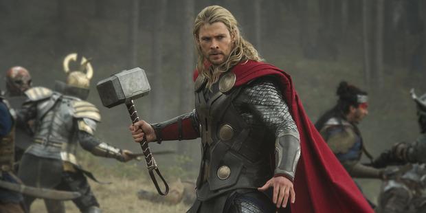Chris Hemsworth stars as Thor.