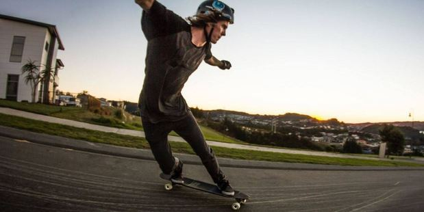 Loading Tristan Hunter died when he was hit by a car while skating downhill near Paraparaumu. Photo / Supplied