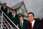 DESIGNED FOR BOYS: James Porima (left), Max Knobloch, Louis Sherwood, Archie Knight, and headmaster Steve Fiet, of Hereworth School in Havelock North. PHOTO/Paul Taylor.