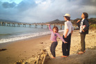 Evie, Flynn and Johnny Cox on the beach in the Hokianga. Photo / Rob Cox