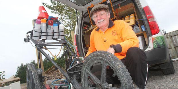 Peter Jackson with his ground-penetrating radar vehicle. PHOTO/ANDREW BONALLACK
