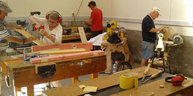 Greytown Menz Shed members hard at work. PHOTO/SUPPLIED
