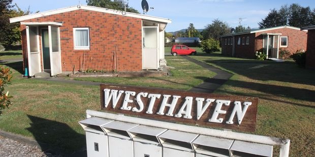 The South Wairarapa District Council-owned Westhaven pensioner flats on West St in Greytown could be sold to a community housing provider. PHOTO/ANDREW BONALLACK