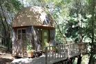 One of Airbnb's most popular rental property, the Mushroom Dome, is owned by 65 year-old Kitty Mrache. Photo / Airbnb