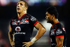 Ryan Hoffman of the Warriors looks on during the round six NRL match between the New Zealand Warriors and the Manly Sea Eagles. Photo / Getty Images.