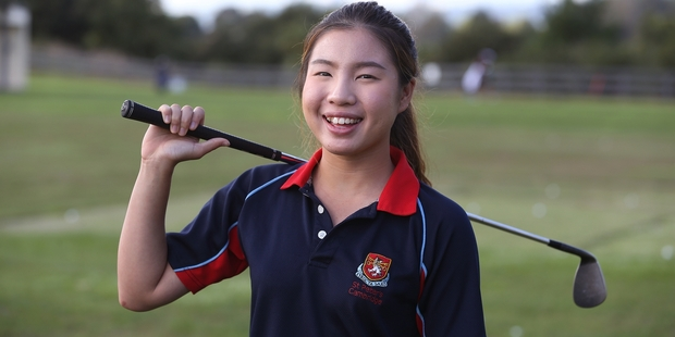 Loading Focus Jonglikit is a student at a golf academy at St Peter's School in Cambridge and she wants to follow in Lydia Ko's footsteps as a professional. Photo / Doug Sherring