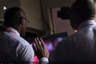 Vision emerges of David Lloyd insisting Ian Bishop commentates the final moments of the World T20 final. Photo / YouTube.