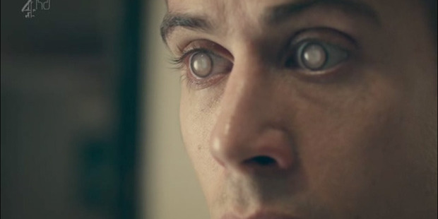 A scene from the disquieting episode of  Black Mirror  in which people can replay memories onto their eyes. Still / Channel 4