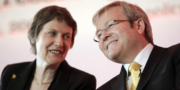 Kevin Rudd tweeted his best wishes to Helen Clark after her announcement of her candidacy for UN Secretary-General. Photo / Getty Images