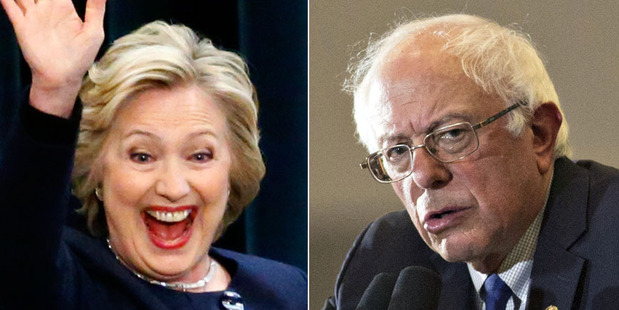 Hillary Clinton and Bernie Sanders are in a tight race for the Democratic nomination. Photos / Getty Images