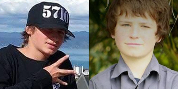 Hoani Korewha, 15, and Pacer Willacy-Scott, 15, died after their friend crashed a stolen car following a short police pursuit in Masterton. Photo / Supplied