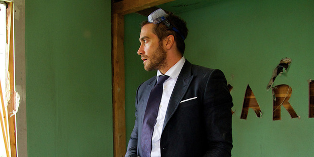 Loading Jake Gyllenhaal in a scene from his new movie Demolition.