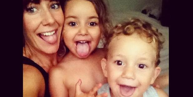 Loading Sally Faulkner with her children, Noah and Lahela. Photo / Facebook