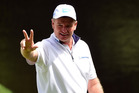 South Africa's Ernie Els just a six-over 10 on the first hole at Augusta. Photo / AP