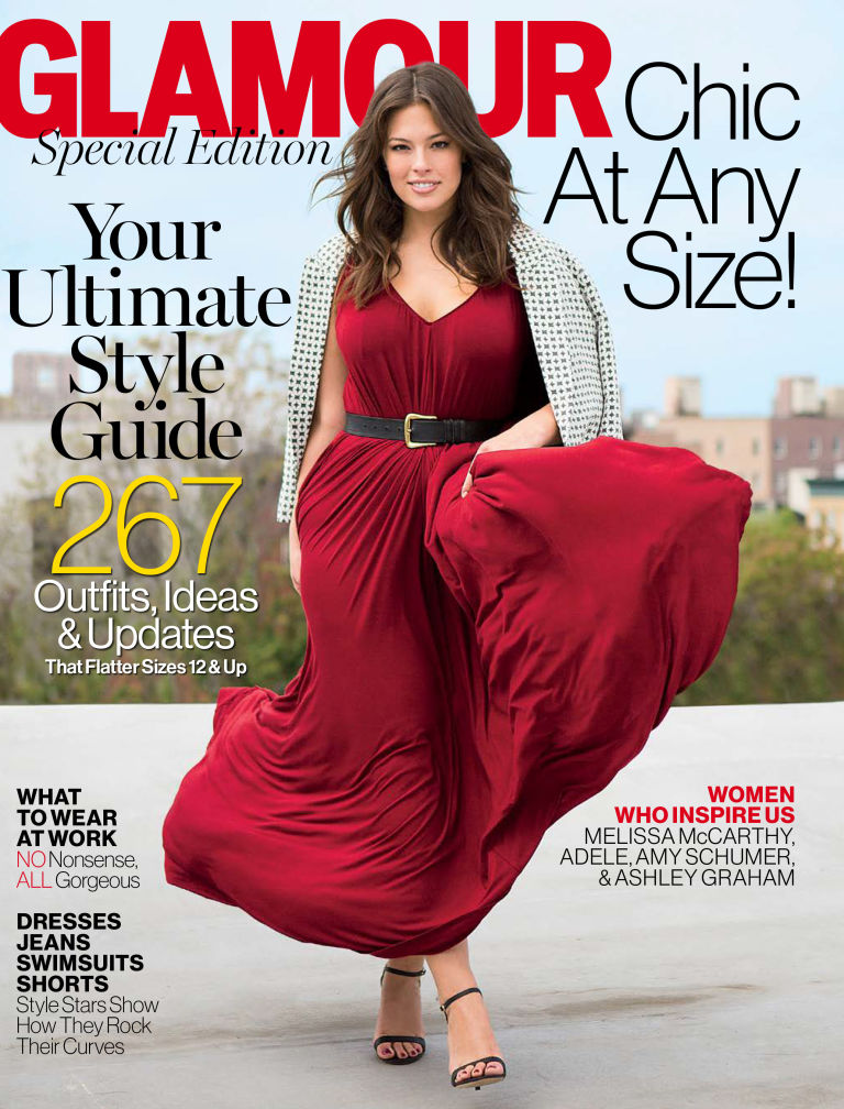 Ashley Graham on the cover of Glamour. Photo / Glamour