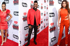 Three's a trend. Karrueche Tran, Jason Derulo and Selena Gomez all chose red on the red carpet. Photo / Getty