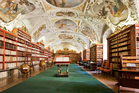 Clementinum's Library Hall is decorated with frescoes by Josef Diebel. Photo / iStock