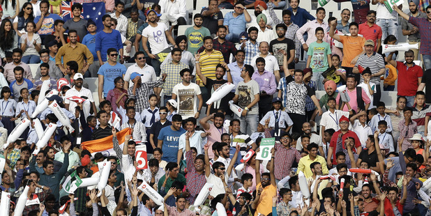 Fans attend a World T20 game in India. Photo / AP