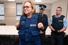 Corrections minister Judith Collins was given a tour of an Upper Hutt probation office equipped with new safety measures.