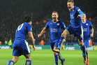Leicester City hold a seven point lead with six games to play. Photo / Ap