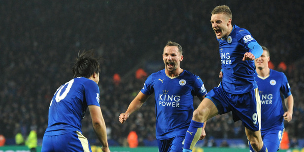 Loading Leicester City hold a seven point lead with six games to play. Photo / Ap
