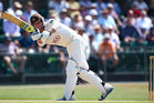 Stuart Meaker batting. Photo / Getty