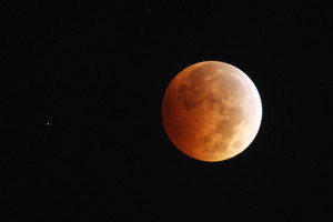 A harvest moon has an orange colour, also known as a blood moon.