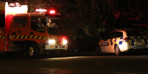 Loading Emergency services were called to the scene around 7pm. Photo / Daniel Hines