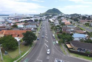 Maunganui Rd before and after the proposed upgrades. Images/supplied
