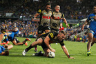 Bryce Cartwright of the Panthers scores the winning try. Photo / Getty