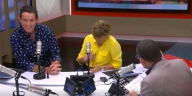 """Paul Henry asked Hilary Barry """"How hard is it to make the buttons actually hold fabric together?"""" Photo / Facebook"""