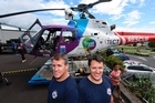 Rescue chopper open day. Helicopter pilots Todd Dunham left and Liam Brettkelly. Photo/George Novak