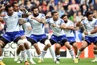 Samoa perform their war dance. Photo / Getty