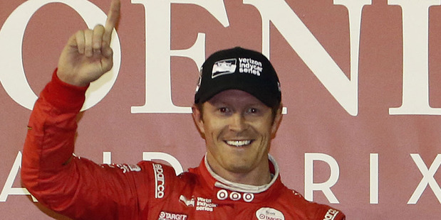 Scott Dixon celebrates winning the IndyCar Phoenix Grand Prix. Photo / AP