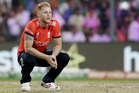 England's Ben Stokes gave up 19 runs in the final over. Photo / AP