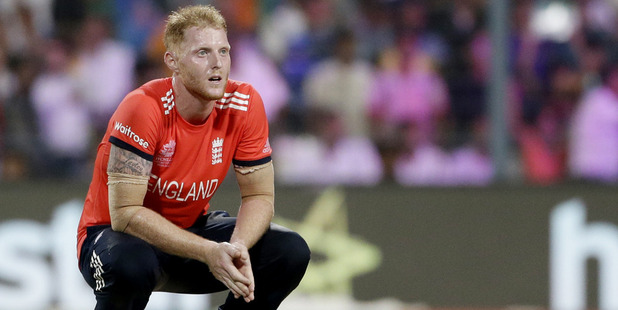 Loading England's Ben Stokes gave up 19 runs in the final over. Photo / AP
