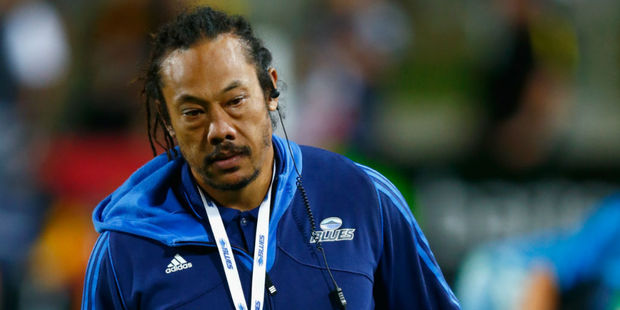 A dejected Tana Umaga after his Blues side lost to the Chiefs. Photo / Getty